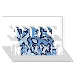 Blue Maths Signs Happy New Year 3d Greeting Card (8x4)  by maregalos