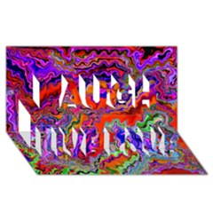 Happy 3 Red Laugh Live Love 3d Greeting Card (8x4)  by MoreColorsinLife