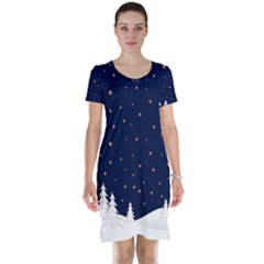 Short Sleeve Nightdress by aopclothing
