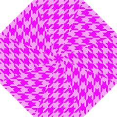 Houndstooth 2 Pink Straight Umbrellas by MoreColorsinLife
