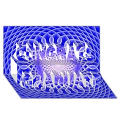 Swirling Dreams, Blue Congrats Graduate 3d Greeting Card (8x4)  by MoreColorsinLife
