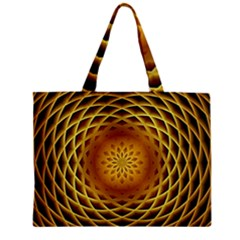 Swirling Dreams, Golden Zipper Tiny Tote Bags by MoreColorsinLife