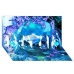 Skull Worship BEST SIS 3D Greeting Card (8x4)