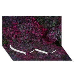 Fantasy City Maps 1 Twin Heart Bottom 3d Greeting Card (8x4)  by MoreColorsinLife