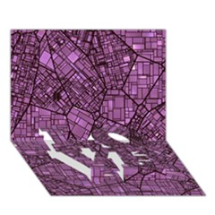 Fantasy City Maps 4 Love Bottom 3d Greeting Card (7x5)  by MoreColorsinLife