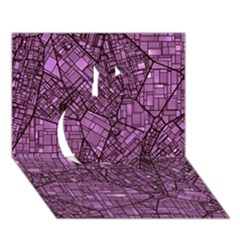 Fantasy City Maps 4 Apple 3d Greeting Card (7x5)  by MoreColorsinLife