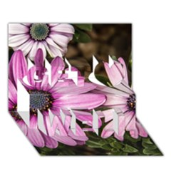 Beautiful Colourful African Daisies  Get Well 3d Greeting Card (7x5)  by OZMedia