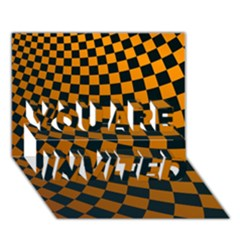 Abstract Square Checkers  You Are Invited 3d Greeting Card (7x5)  by OZMedia