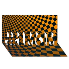 Abstract Square Checkers  #1 Mom 3d Greeting Cards (8x4)  by OZMedia