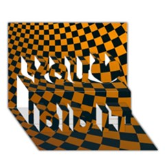 Abstract Square Checkers  You Did It 3d Greeting Card (7x5) by OZMedia