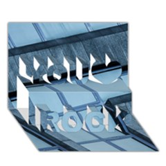 Abstract View Of Modern Buildings You Rock 3d Greeting Card (7x5)  by OZMedia