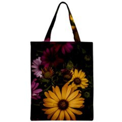 Beautiful Colourful African Daisies  Zipper Classic Tote Bags by OZMedia