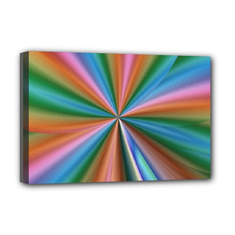 Abstract Rainbow Deluxe Canvas 18  x 12   by OZMedia