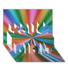 Abstract Rainbow You Did It 3d Greeting Card (7x5) by OZMedia