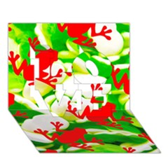 Box of Frogs  LOVE 3D Greeting Card (7x5)
