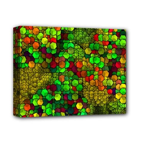 Artistic Cubes 01 Deluxe Canvas 14  x 11  by MoreColorsinLife