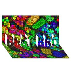 Artistic Cubes 4 Best Bro 3d Greeting Card (8x4)