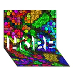 Artistic Cubes 4 HOPE 3D Greeting Card (7x5)  by MoreColorsinLife