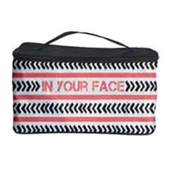 In Your Face Cosmetic Storage Case by typewriter