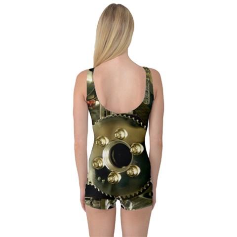 One Piece Boyleg Swimsuit