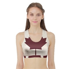 Women s Sports Bra with Border by TheGreatNorth