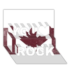 Style 8 You Rock 3d Greeting Card (7x5)