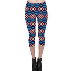 Rhombus  Pattern Capri Leggings