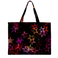 Sparkly Stars Pattern Zipper Tiny Tote Bags by LovelyDesigns4U