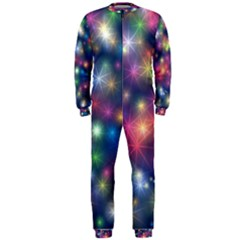 Sparkling Lights Pattern Onepiece Jumpsuit (men)  by LovelyDesigns4U