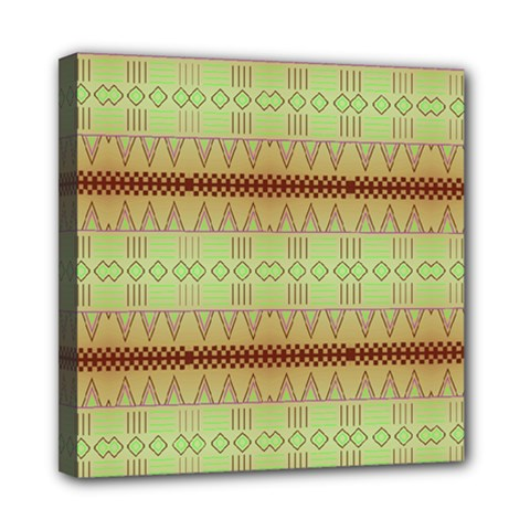 Aztec Pattern Mini Canvas 8  X 8  (stretched) by LalyLauraFLM