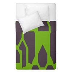 Brown green shapes  Duvet Cover (Single Size) by LalyLauraFLM