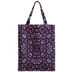 Luxury Grunge Digital Pattern Zipper Classic Tote Bags by dflcprints