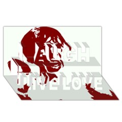 Psycho Laugh Live Love 3d Greeting Card (8x4)  by icarusismartdesigns