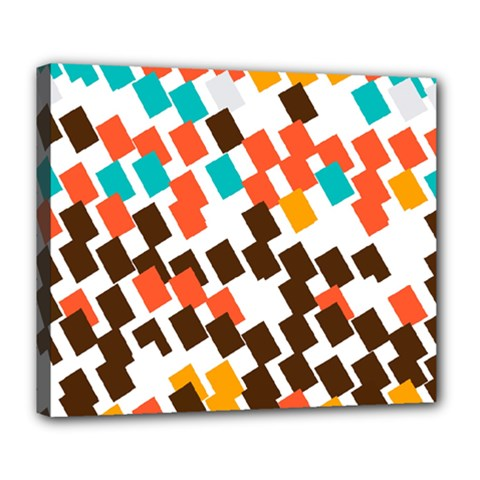 Rectangles On A White Background Deluxe Canvas 24  X 20  (stretched) by LalyLauraFLM