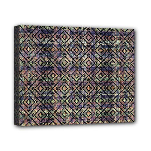 Multicolored Ethnic Check Seamless Pattern Canvas 10  X 8  by dflcprints