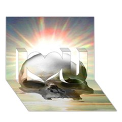 Skull Sunset I Love You 3d Greeting Card (7x5)  by icarusismartdesigns