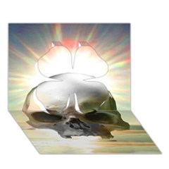 Skull Sunset Clover 3d Greeting Card (7x5)  by icarusismartdesigns