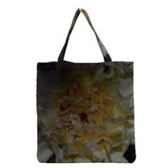 Yellow Flower Grocery Tote Bags by timelessartoncanvas