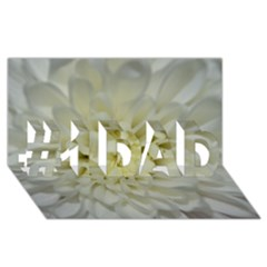 White Flowers #1 Dad 3d Greeting Card (8x4)  by timelessartoncanvas