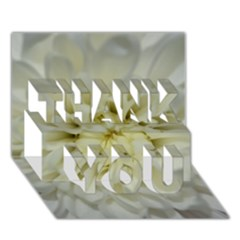 White Flowers Thank You 3d Greeting Card (7x5)  by timelessartoncanvas