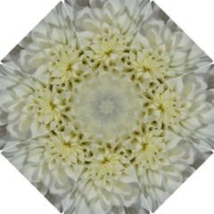 White Flowers Hook Handle Umbrellas (Small) by timelessartoncanvas