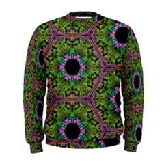 Repeated Geometric Circle Kaleidoscope Men s Sweatshirts