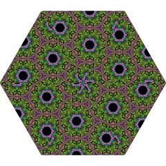 Repeated Geometric Circle Kaleidoscope Mini Folding Umbrellas by canvasngiftshop