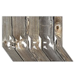 Wood Fence Sorry 3d Greeting Card (8x4)  by trendistuff
