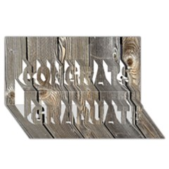 Wood Fence Congrats Graduate 3d Greeting Card (8x4)  by trendistuff