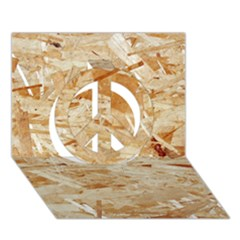Osb Plywood Peace Sign 3d Greeting Card (7x5)  by trendistuff
