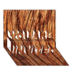 OLD BROWN WEATHERED WOOD YOU ARE INVITED 3D Greeting Card (7x5)