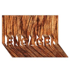 Old Brown Weathered Wood Engaged 3d Greeting Card (8x4)  by trendistuff