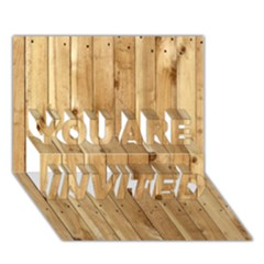 Light Wood Fence You Are Invited 3d Greeting Card (7x5)  by trendistuff