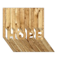Light Wood Fence Hope 3d Greeting Card (7x5)  by trendistuff